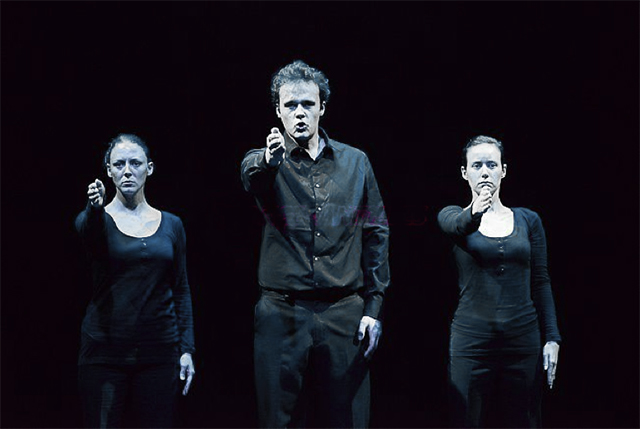 Les comédiens de TCHERNOBYL FOREVER: Elsa Ritter / Vladimir Barbera / Aurore James